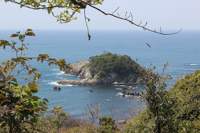 近くの歴史的伝説のある島「亀島」 Island with a historical legend Turtle Island what we call 'Game-jima'