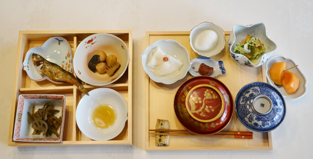 朝食の1例 Breakfast Traditional Japanese cooking