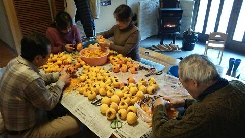 農業体験 干し柿作り Farming Experience - Making Dried Persimmons